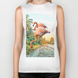 Flamingo Vacay #photography #surrealism Biker Tank