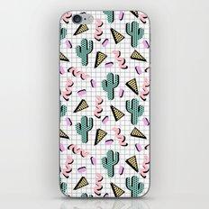 Sweetness - memphis retro grid cactus pastel neon 80s style classic socal beach life surf desert art iPhone & iPod Skin