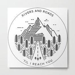 Rivers and Roads Metal Print