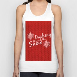Dashing Through The Snow Unisex Tank Top