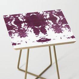 Velvet Kumo Shibori Plum Side Table