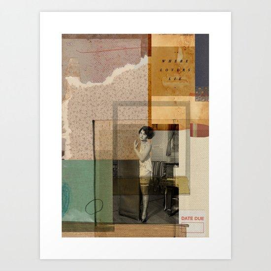 WHERE LOVERS LIE// Art Print