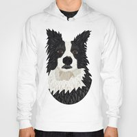 border collie Hoodies featuring Beautiful Border Collie by ArtLovePassion