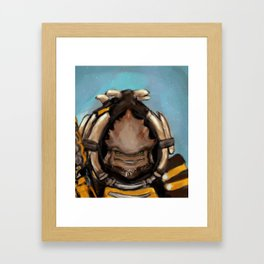 Krogan Pancake Framed Art Print