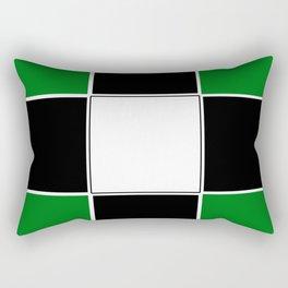 TEAM COLORS 3 ...GREEN,BLACK Rectangular Pillow