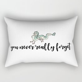 YOU NEVER REALLY FORGET Rectangular Pillow