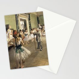 The Dance Lesson - Edgar Degas Stationery Cards