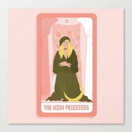 Tarot Card II: The High Priestess Canvas Print