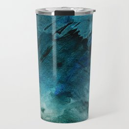 Scenic Route [2]: a pretty, minimal abstract piece in blue and green by Alyssa Hamilton Art Travel Mug