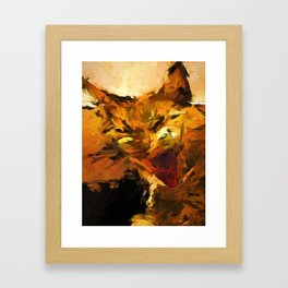 Cat Cathartic Scream Framed Art Print