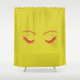 Betty Gone Batty (Red on Chartreuse Edition) Shower Curtain