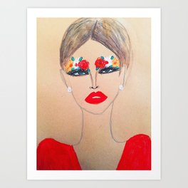 Flower Brow Art Print