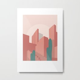 Ricardo Bofill cactus affiche poster graphic design architecture minimalist  Metal Print