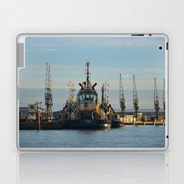Tug Boat In The Evening Light Laptop & iPad Skin