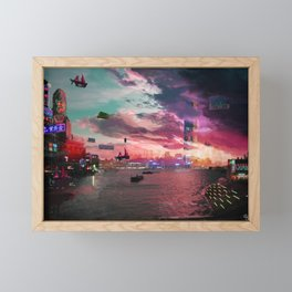 Harbour Framed Mini Art Print