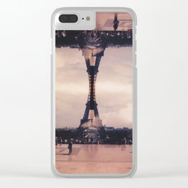 Dueling Eiffel Towers // Paris Clear iPhone Case