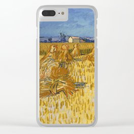 Corn Harvest in Provence Clear iPhone Case