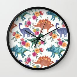 dinosaurs pattern Wall Clock