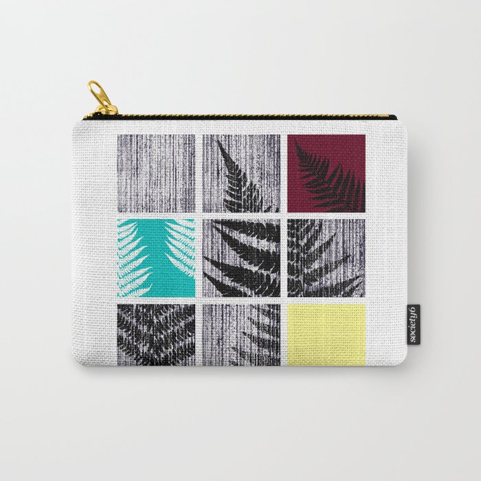 Square Fern Carry-All Pouch