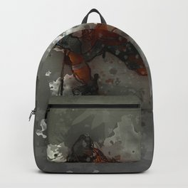 On Ice - Ice Hockey Player Modern Art Backpack