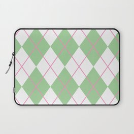 Green Argyle Laptop Sleeve
