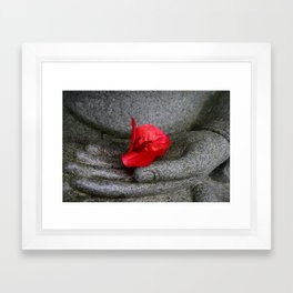 A Peace of Buddha in Photography Framed Art Print