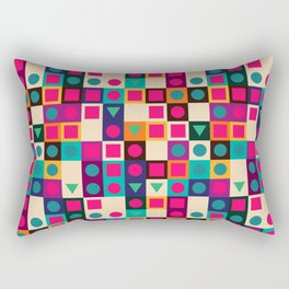 Geometric pattern with shapes Rectangular Pillow