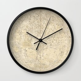Antique Moonscape Lithograph Wall Clock