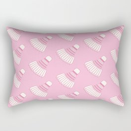 Shuttlecock Badminton Pattern (Pink) Rectangular Pillow