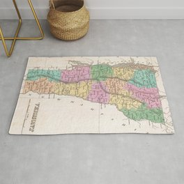 Vintage Map of Vermont (1827) Rug