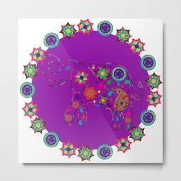 Lilac Elephant Metal Print