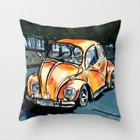 bug Throw Pillows featuring Bug by Jonas Ericson