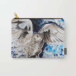"Owl - Animal - ""I own the night..."" by LiliFlore Carry-All Pouch"