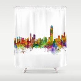 Hong Kong Skyline Shower Curtain