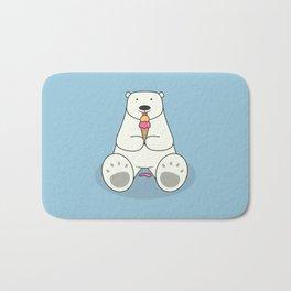 Ice Cream Lover Bear Bath Mat