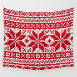 Winter knitted pattern 6 Wall Tapestry