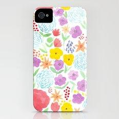 les fleurs iPhone (4, 4s) Slim Case