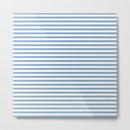 Chambray striped pattern Metal Print
