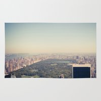 central park Area & Throw Rugs featuring Central Park by Thomas Richter