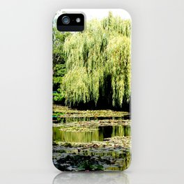 Willow Tree in Monet's Garden  iPhone Case