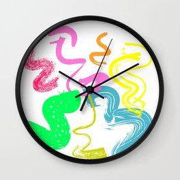 Adobe brushes pop-art decor Wall Clock