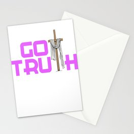 Creative simple tee design made perfectly for your faith. Makes a nice gift for everyone!  Stationery Cards
