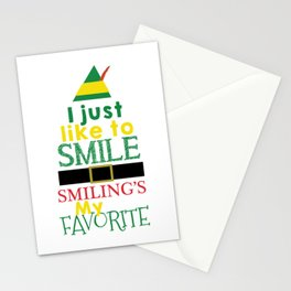 I just like to Smile - Buddy the Elf Stationery Cards