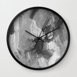 Soft Grey Abstract Wall Clock