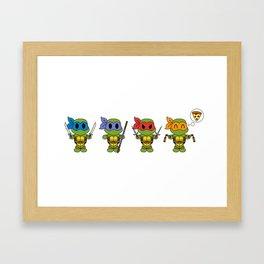 TMNT Chibis Framed Art Print