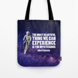 Einstein: The Mysterious Universe Tote Bag