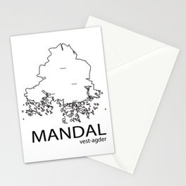 map of mandal Stationery Cards
