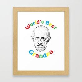 Worlds's Best Grandpa Framed Art Print