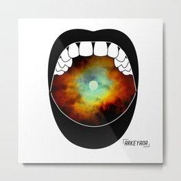 Moon Scream Metal Print