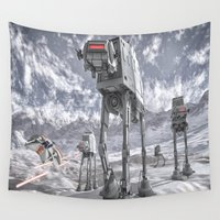 sci fi Wall Tapestries featuring Sci-Fi Fantasy 2 by gypsykissphotography